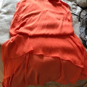 BCBG beautiful orange maxi dress